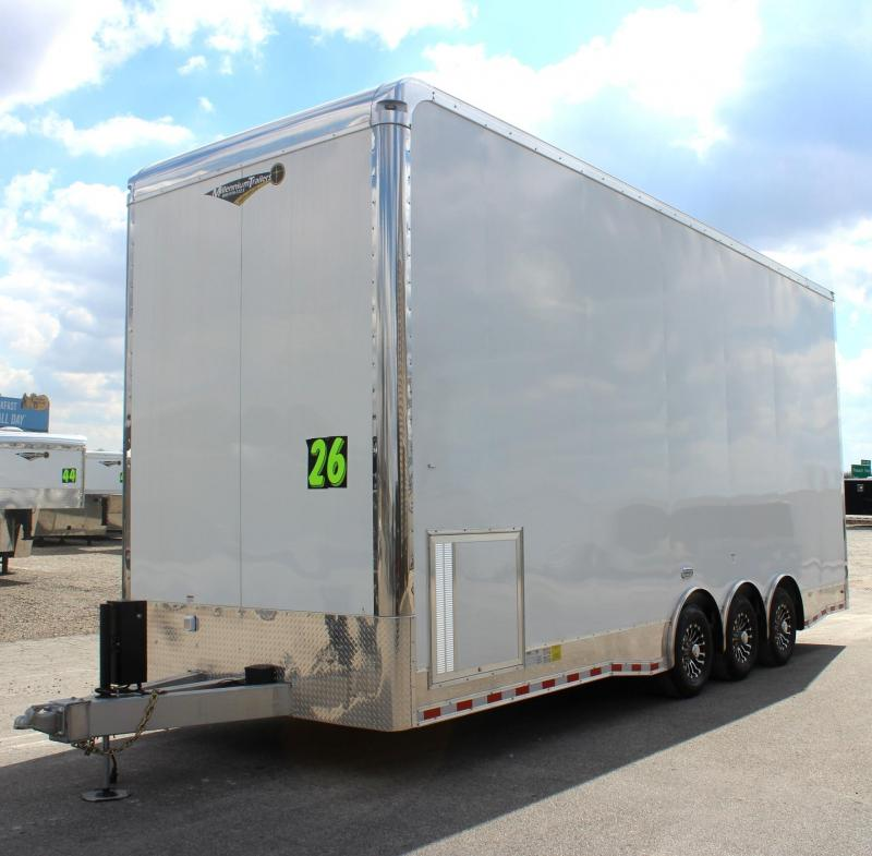 <b>JUST ARRIVED</b> 2019 26' All Alum Stacker Enclosed Race Car Trailer 3/7k Tri Axle 14' Full Floor Lift