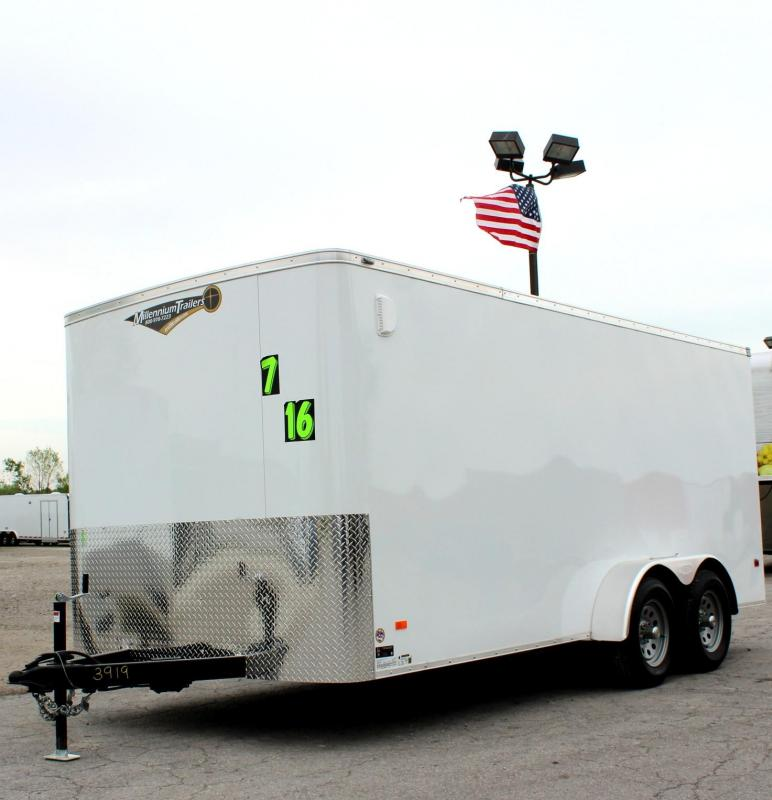 2019 7'x16' Scout Enclosed Cargo Trailer with Plus Pkg. PLUS Free Options
