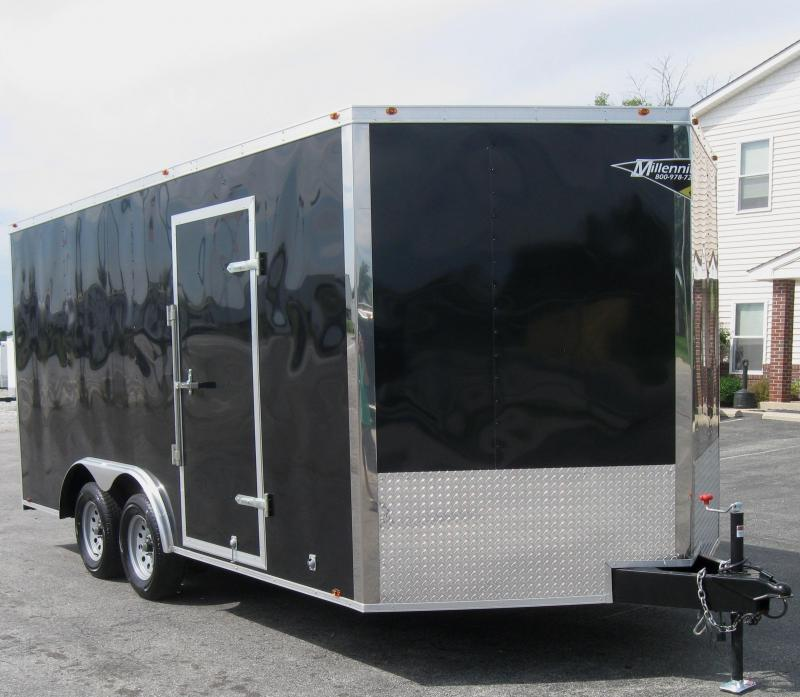 <b>MEGA BLOW-OUT SALE ONLY $6299  SAVE $1200 OFF MSRP</b>  2017 8.5x16 Millennium Chrome Enclosed Trailer