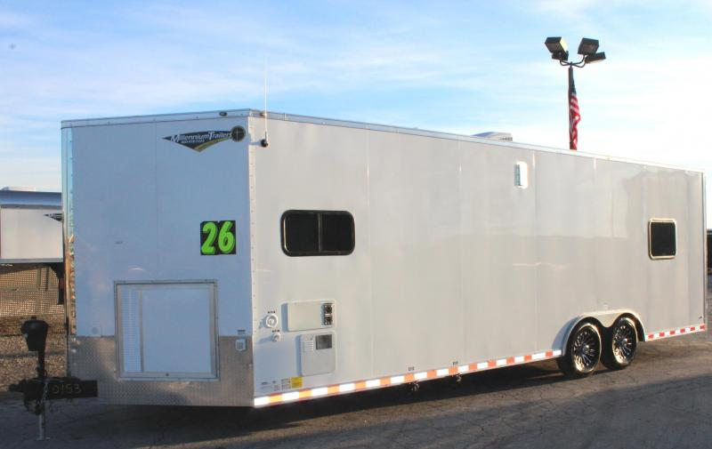 <b>Now Ready</b> 2019 26' Millennium Auto Master Enclosed Trailer Toy Hauler w/Living Quarters