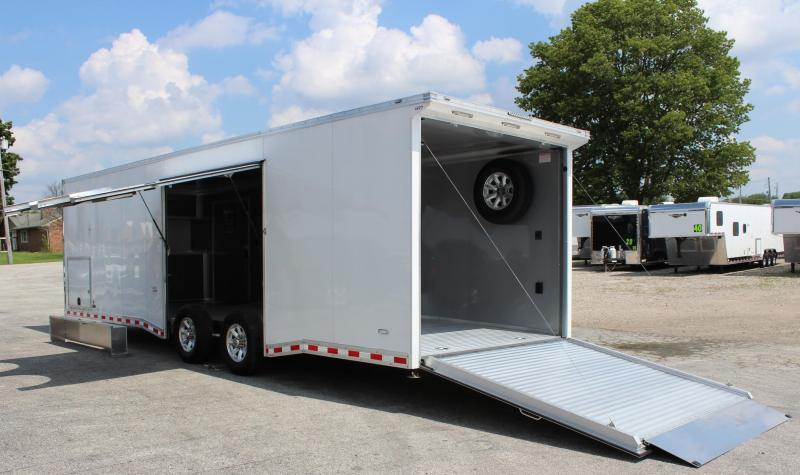 <b>US National Display Trailer Call for Race Discount</b> 2019 28' All Aluminum with Escape Door w/Removable Wheel Box & Wing  & Extruded Floor