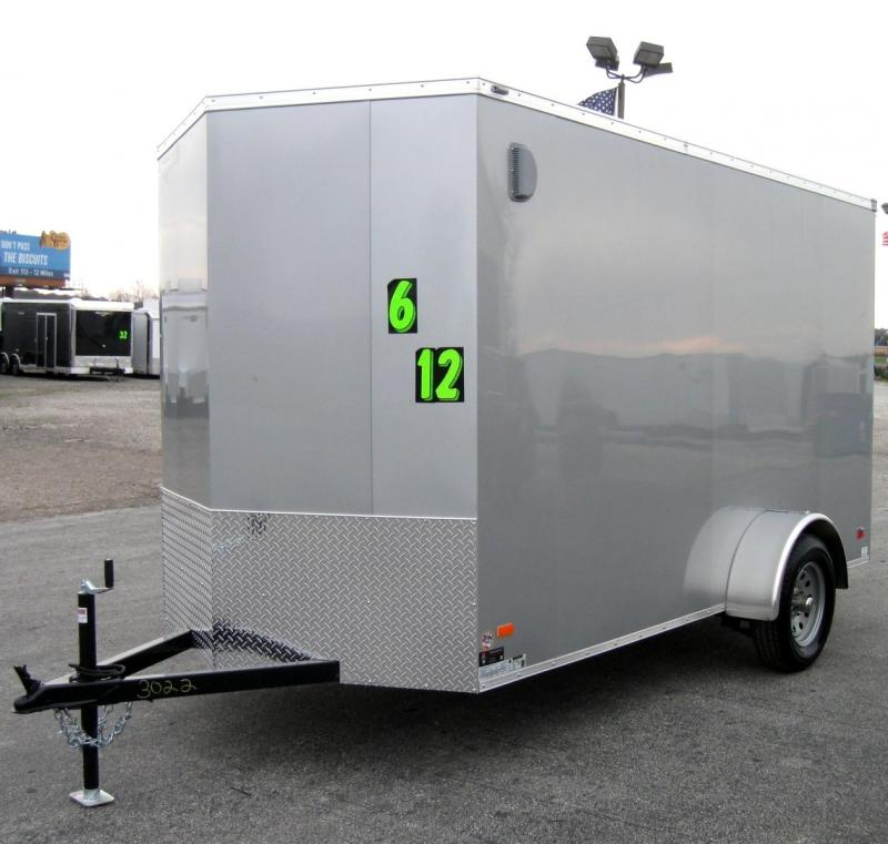 2018 6'x12' Scout Silver Enclosed Cargo Trailer with Plus Package & Free Options 6