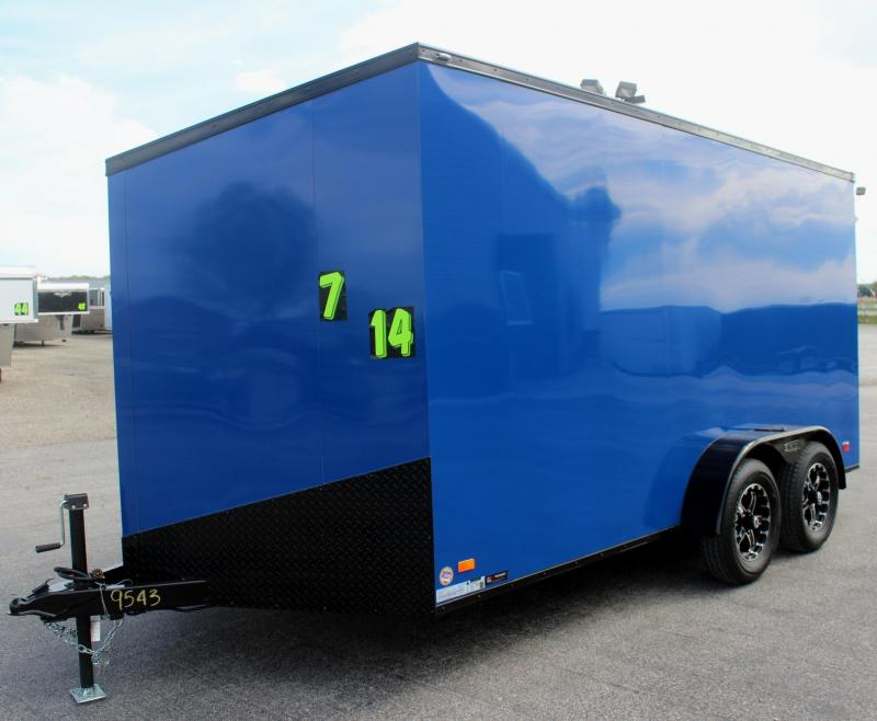 <b>Call For Availability</b> 2020 7'x14' Scout Enclosed Cargo Trailer with Ramp Door