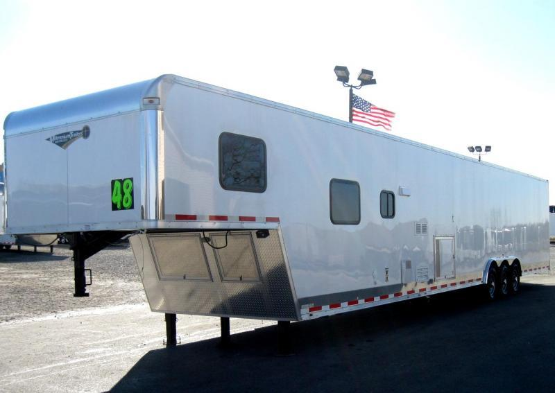 <b>Available</b> 2019 48' Millennium Silver 12'XE Living Quarters Trailer 28' Garage Area