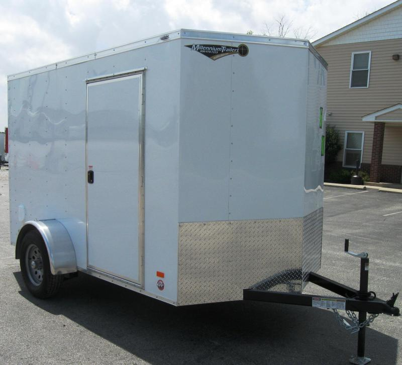 2016 6'x10' Scout Enclosed Cargo Trailer with Ramp Door