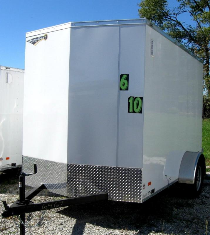 <b>BLOW-OUT PRICE ONLY $2999 Save $700 Off MSRP</b> 2016 6'x10' Scout Enclosed Cargo Trailer w/Cargo Doors