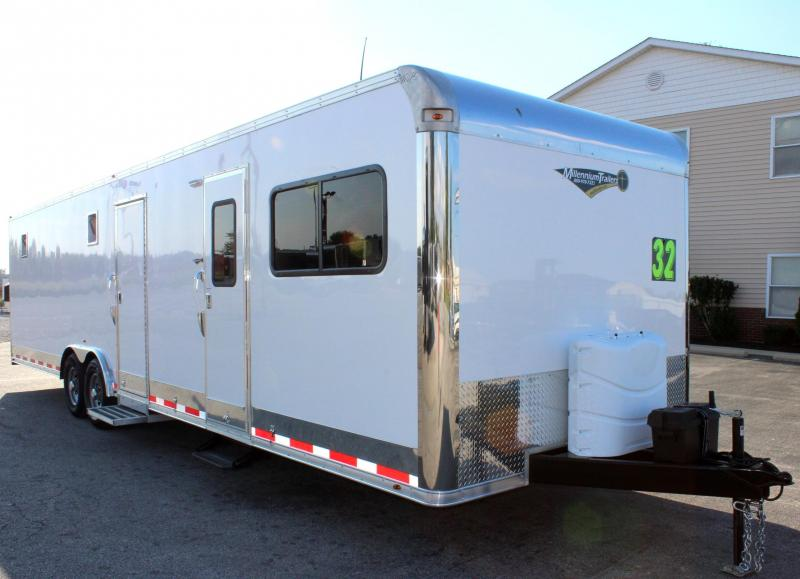 <b>NOW READY</b> 2019 32' Millennium 12'XE Living Quarters 20' Cargo Area Enclosed Trailer