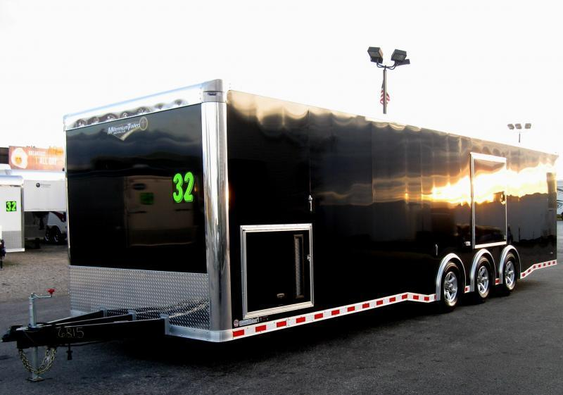 <b>READY 8/3/18</b> 2019 32' NEW Millennium Trailers Extreme Red Cabinets/ Rear Wing/ Escape Door & MORE!