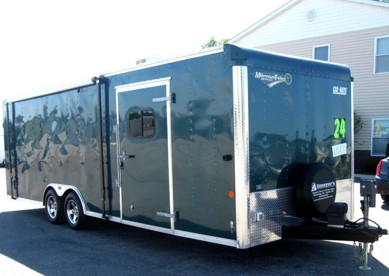 <b>SALE PENDING BLOW OUT SALE  NOW $10499 USED TRADE IN</b>  24' 2015 Car Mate Trailer LOADS OF OPTIONS
