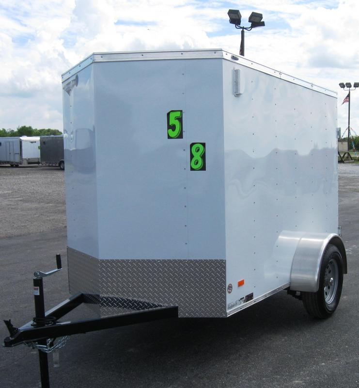 2017 5'x8' Scout Enclosed Cargo Trailer Double Doors 6