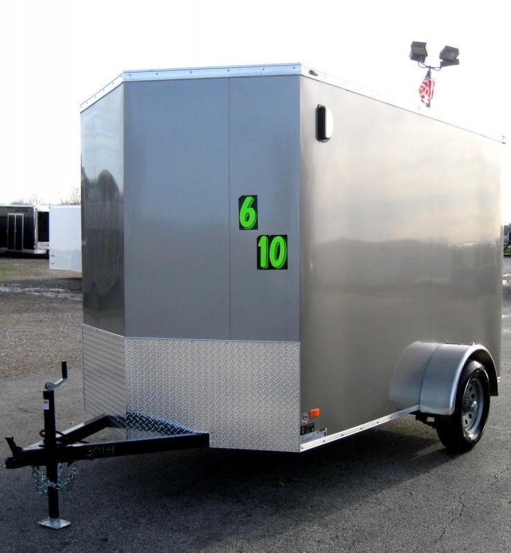 6'x10' Scout Enclosed Cargo Ramp Door with Plus Pkg. &  Free Options & 6