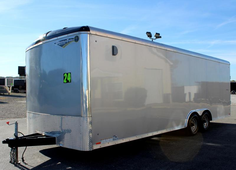 <b>Just Arrived Pre-Owned</b>  2016 24' Pace American Cargosport Car / Race Trailer with RAMP OVERS