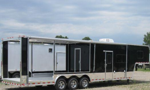 Millennium Trailers 36' Custom Silver Barbeque Trailer