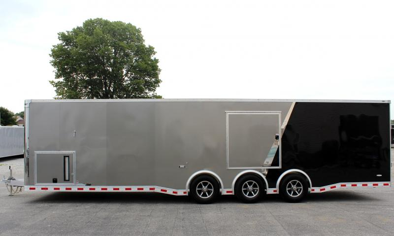 <b>TRAILER OF THE DAY #13 SAVE $4401 OFF MSRP NOW  $27899</b>  2019 ALL ALUM 32' Millennium Extreme Enclosed Race Car Trailer w/Black Cabinets & Escape Door