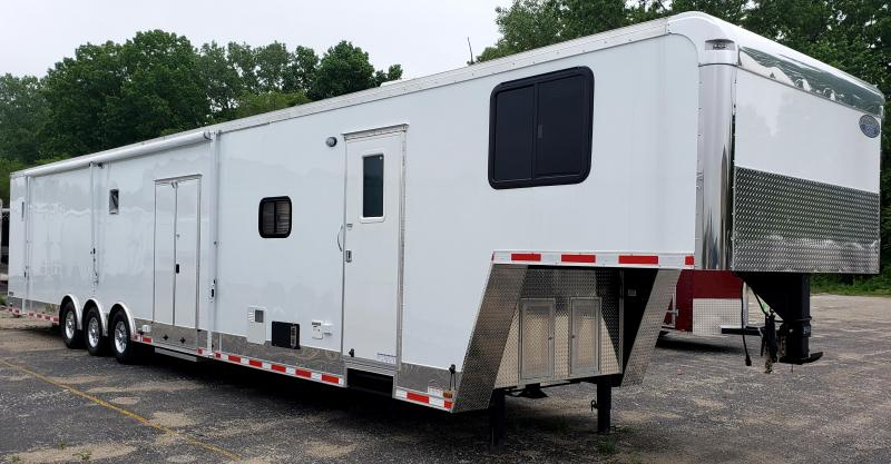 **Fantastic July 4th Savings** NEW 2017 48'/12'D+8' Living Quarters Trailer 28' Cargo Area FREE AWNING!