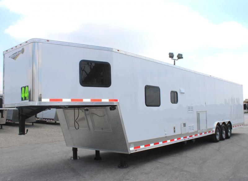 <b>Now Ready! Tapered Nose</b> 2019 44' Millennium Silver 12'XE Living Quarter Trailer