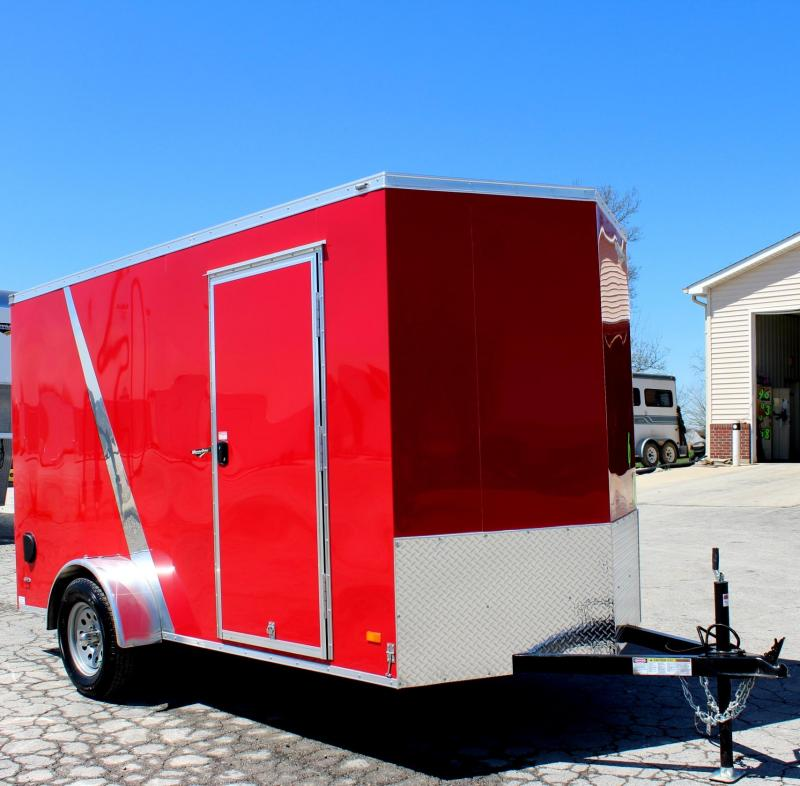 2018 6'x12' Scout Red Cargo Trailer with Plus Package/6