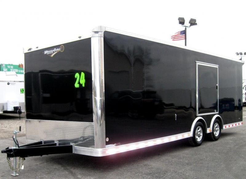 <b>Now Available</b> 2019 24' Millennium Extreme Race Car Enclosed Trailer w/Rear Wing & Escape Door