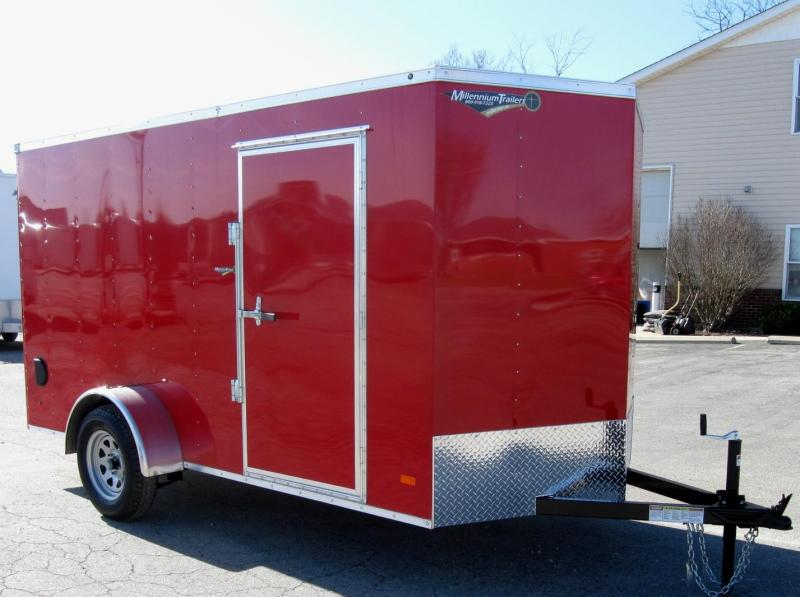 2018 6'x12' Hero Economy Enclosed Cargo Trailer Ramp Door V-Nose Front