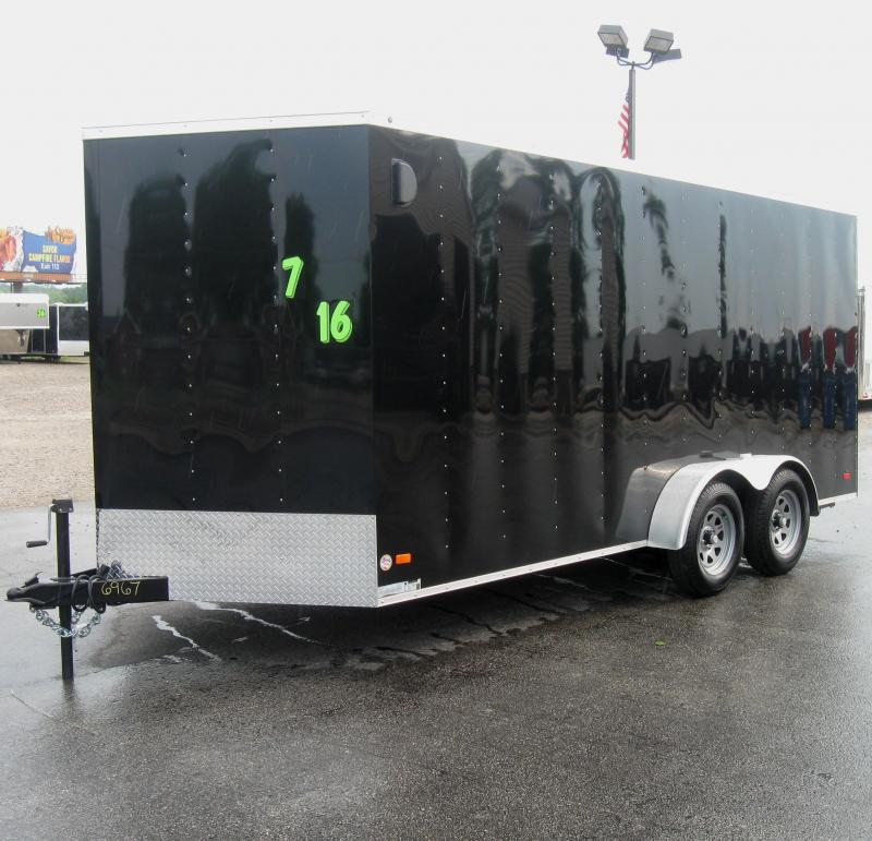 2017 7'x16'  Hero Enclosed Cargo Trailer