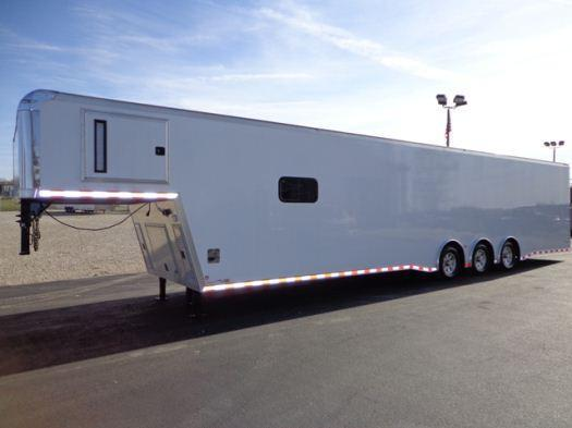 2018 44'  Icon Gooseneck Enclosed Race Car Trailer