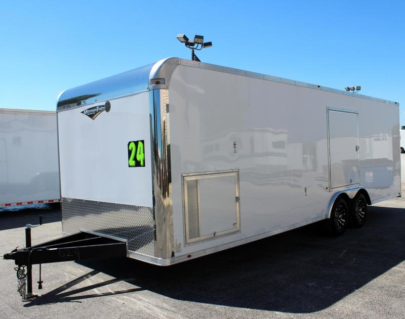 <b>TRAILER OF THE DAY #9  SAVE $3042 OFF MSRP NOW $14999</b> 2019 24' Silver Enclosed Trailer with Escape Door & Aluminum Wheels