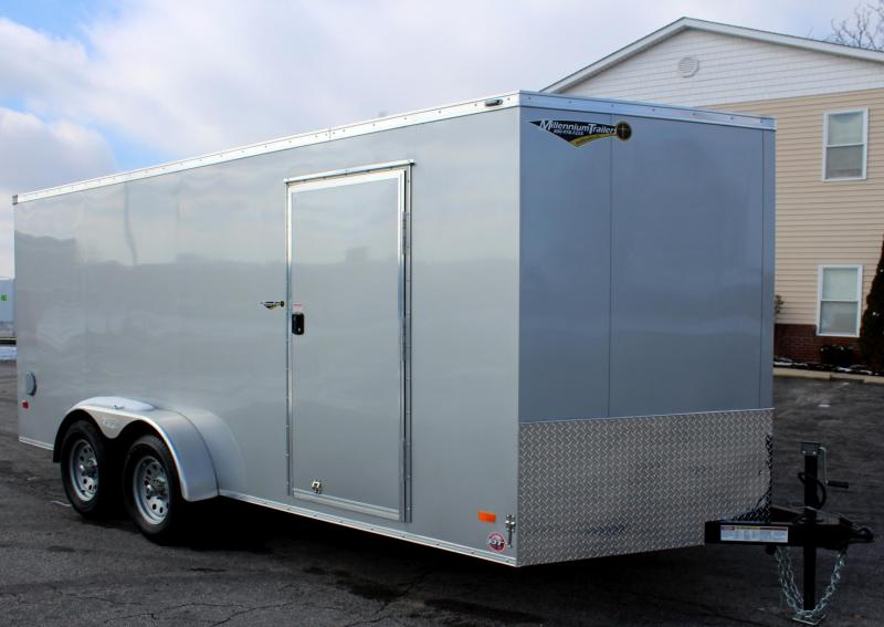 <b>Now Available</b> 7'x16' Scout Enclosed Cargo Trailer with Plus Pkg. & Free Options