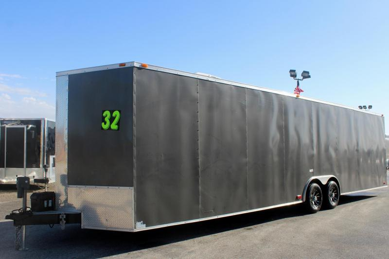 <b>Pre-Owned Just Arrived</b> 32' 2017 Eagle Enclosed Car Trailer w/Air Conditioner Finished Interior