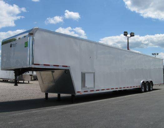 2017 48' Millennium Trailers Silver Enclosed Gooseneck Trailer
