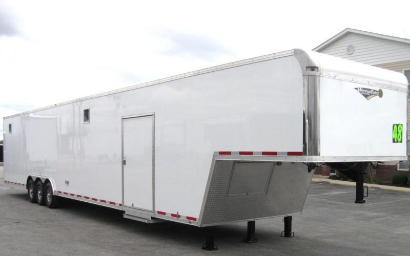 <b>BLOW-OUT SALE DEMO SAVE $7127 SALE $28240</b> 2017 48' Millennium Trailers Silver Enclosed Gooseneck Trailer