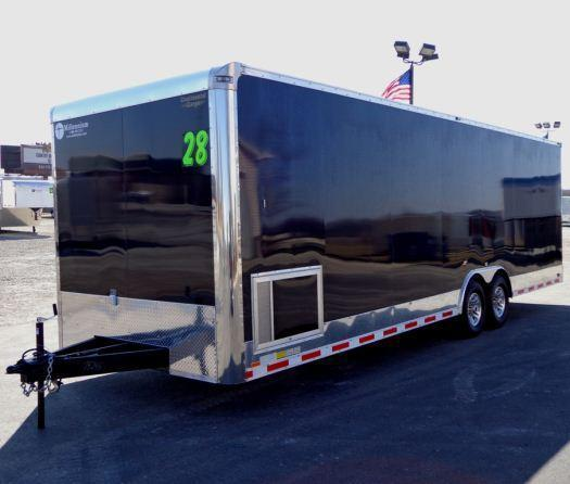 2018 28' Millennium Auto Master Race Trailer LOADED!