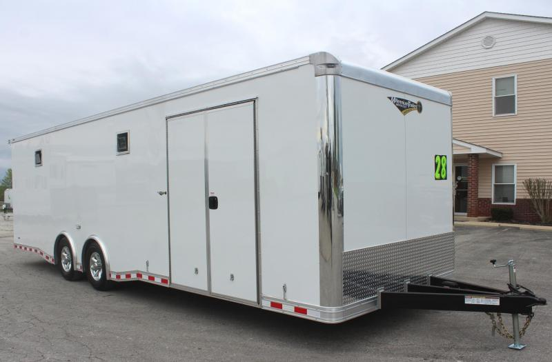 <b>Now Ready</b> 2020 28' Millennium Extreme Race Trailer w/Wing & Spread Axles & Double Side Door