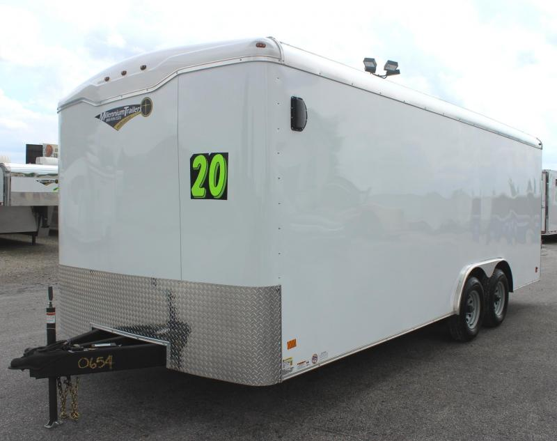 Deluxe Interior Pkg 2019 Screwless 20' Haulmark Transport Car / Racing Trailer