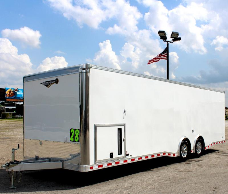 <b>TRAILER OF THE DAY #5 SAVE $6600 OFF MSRP NOW $22999</b> 2019 ALL ALUMINUM 28' NEW Extreme Black Cabinets/Pewter Walls/2-6000 Axles 6