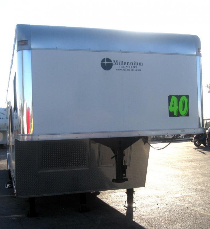 <b>USED TRADE IN</b> 2015 40' Millennium Silver 12'XE Living Quarter Trailer SUPER CLEAN 2-A/C's