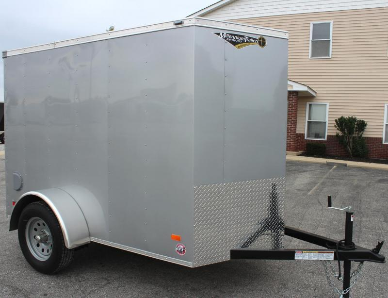 2019 5'x8' Scout Cargo Trailer with Ramp Door 6