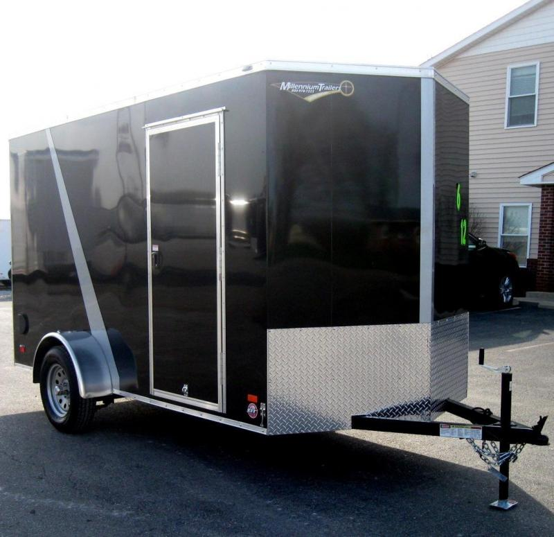 2018 6'x12' Scout Enclosed Cargo Trailer New 2/Tone Trimmed 6