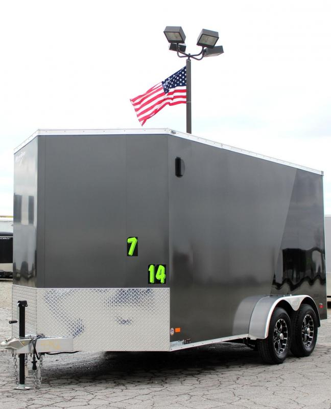 Call For Price & Availability 2019 ALL ALUMINUM 7'x14' Scout Char/Black Super Saver Pkg. 6