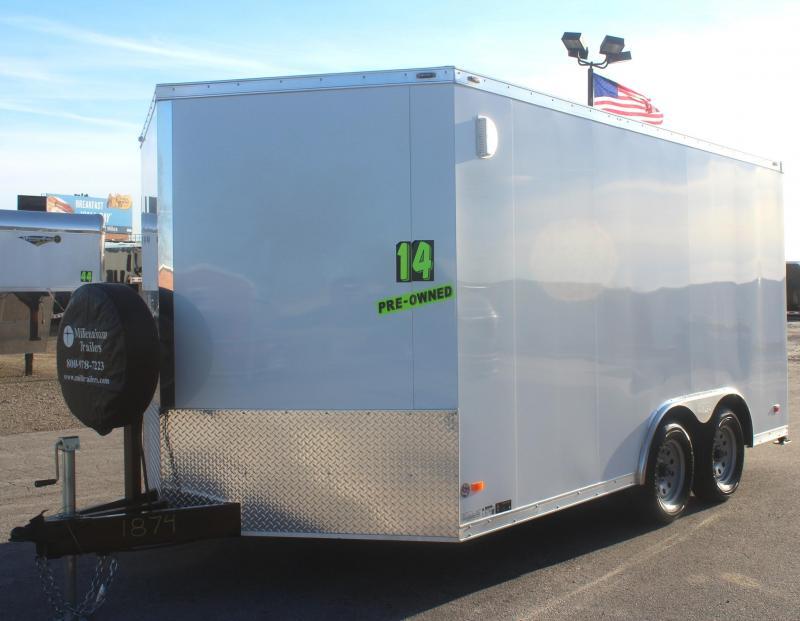 <b>PRE-OWNED/ LIKE NEW</b> 2018 8.5' x 14' Star Cargo Trailer w/Heavy Duty Ramp Door Free Upgrades