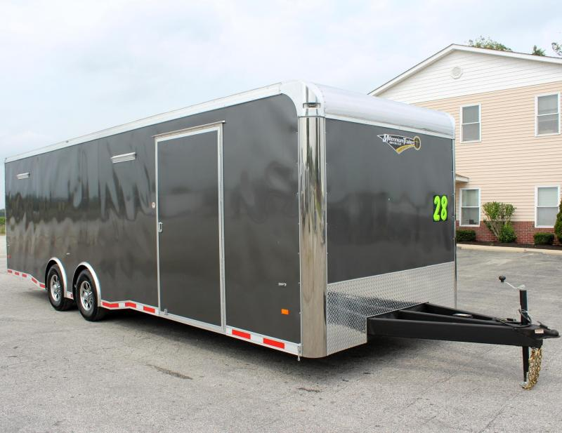 <b>NOW READY</b> 2019 28' NEW Millennium Thunderbolt Check Out Savings Matching Charcoal Cabinets/Alum Wheels/Spread 6K Axles