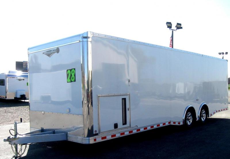 2018 ALL ALUMINUM 28' NEW Extreme Black Cabinets/Pewter Walls/2-6000 Axles 6