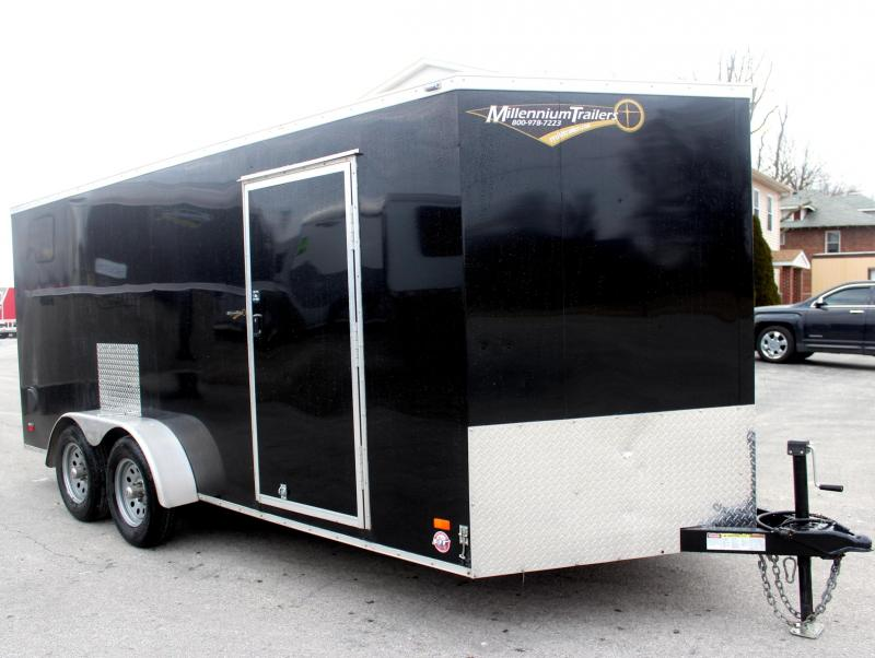<b>Pre-Owned Just Arrived</b> 2017 7'x 16'  Scout Enclosed Cargo w/Ramp Door
