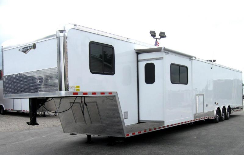 2018 52' Gooseneck 14' Living Quarter w/Slide Out Generator Plus More!
