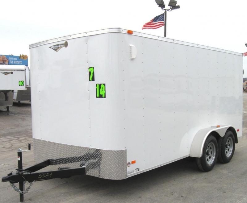 7'x14' Hero Budget Enclosed Cargo Trailer w/Double Cargo Doors