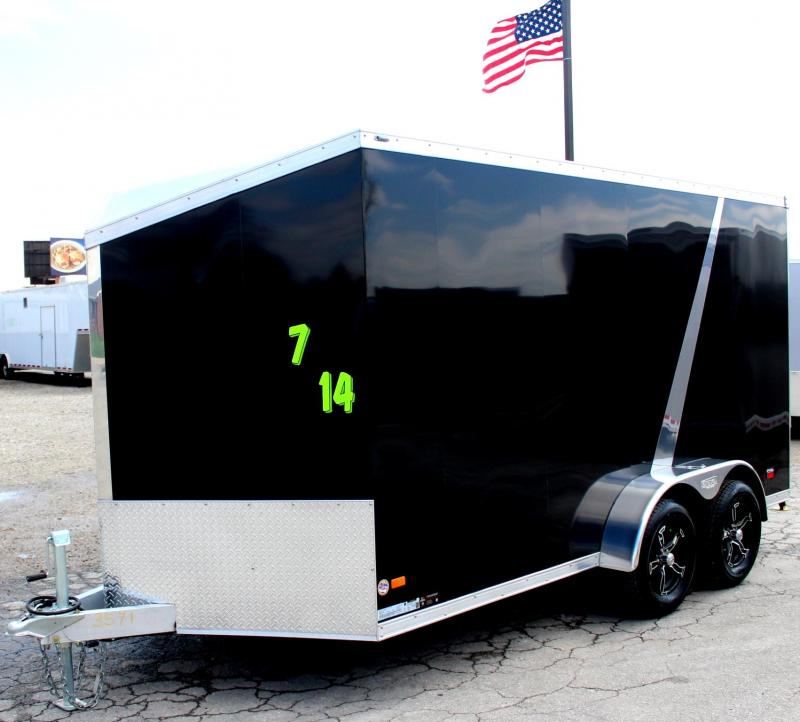 2019 ALL ALUMINUM 7'x14' Scout Black w/Motorcycle  Pkg. 6
