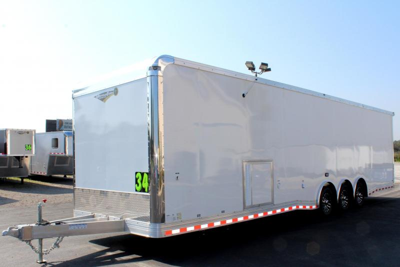 <b>Aluminum Frame w/Full Bathroom</b> 2020 34' Millennium w/Wing & Spread Axles LOADED w/Options