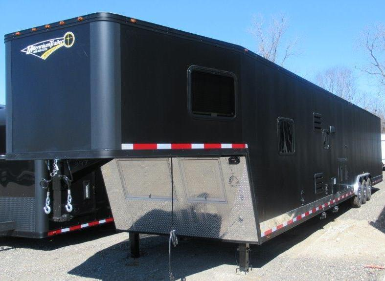 <b>OVERSTOCK SALE SAVE $8000 NOW $67999</b> 2019 Black Out 48' Millennium Trailer w/14' +8' Living Quarters