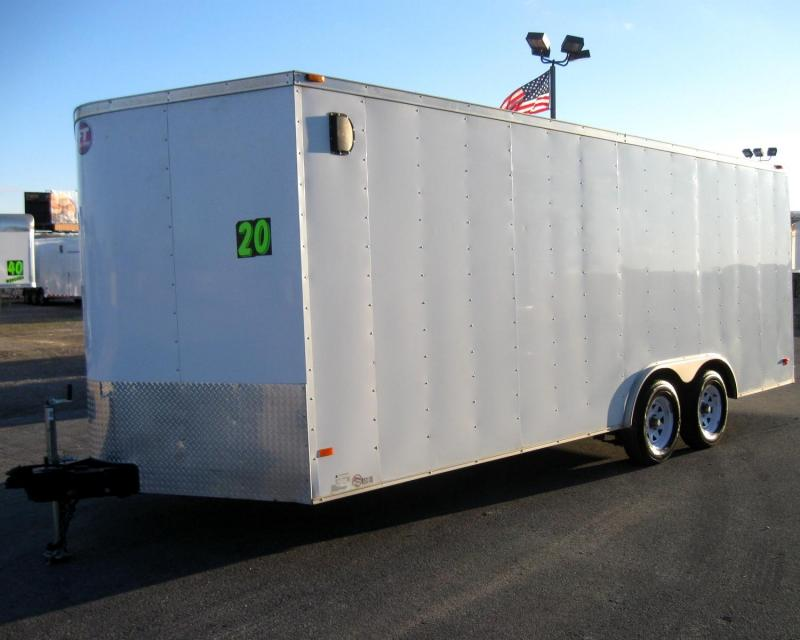 Used 2012 Wells Cargo FT Enclosed Cargo Trailer w/Shelving & Ramp Door