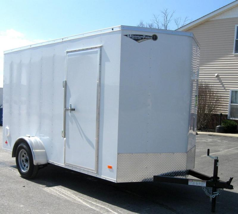 2018 6'x12' Hero Economy Enclosed Cargo Trailer