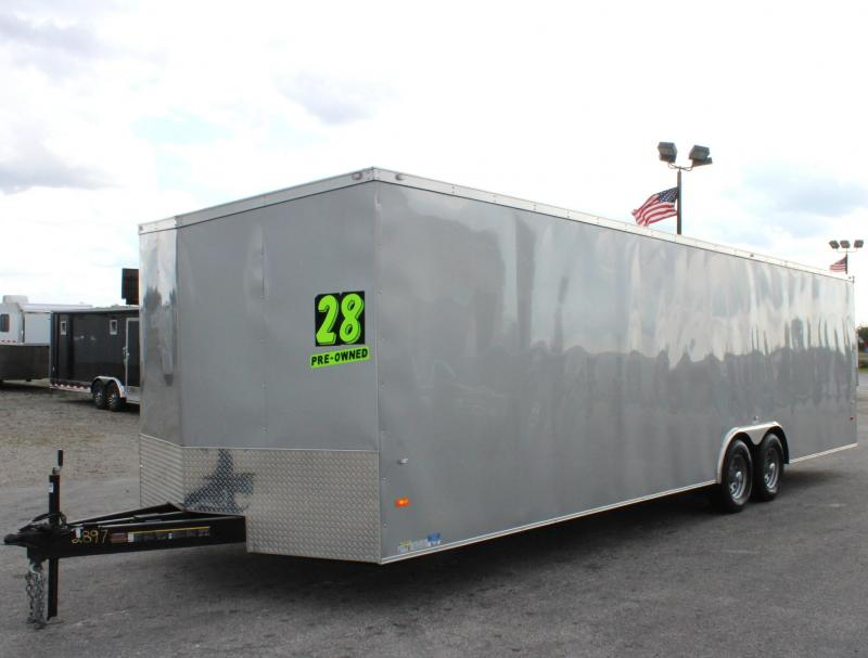 <b>USED TRADE IN</b> 2018 28' Millennium Hornet Enclosed Trailer Screwless Ext. 112' Wall E-Track